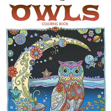 Owls Adult Coloring Book