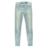 Koral Womens Light Wash Low-Rise Skinny Jeans