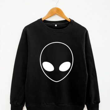 Alien Shirt Fashion Instagram Hipster Shirt Robot Shirt Alien Sweater Women Sweater Men Sweater Unisex Sweater Long Sleeve Sweater Tee Shirt