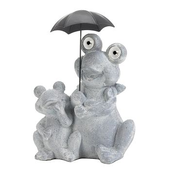 Frogs with Umbrella Solar Garden Light