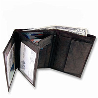Mens Black Leather Bifold Max Wallet