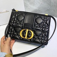 Dior Hot Sale Women Shopping Bag Leather Shoulder Bag Crossbody Satchel Black