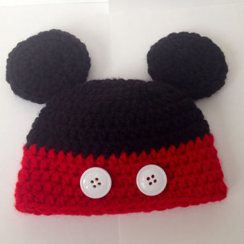 Mickey Mouse Hat/ Beanie  - All Sizes Available