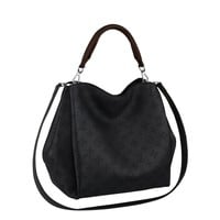 Louis Vuitton Mahina Calf Leather Babylone PM Noir Shoulder Handbag M50031 Made in France