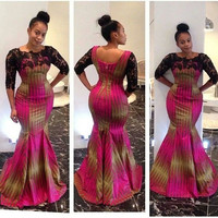African Maxi Dress - African Clothing - Dashiki Maxi Dress - African Maxi Dress
