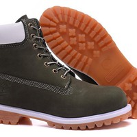 Timberland Men's 10061 white green waterproof boots
