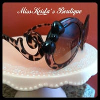 Hello kitty sunglasses leopard red bow by MissKristasBoutique