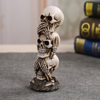 Skull Skulls Halloween Fall Halloween Creative  Halloween decoration Resin handicrafts  figurines Calavera