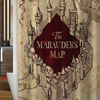 harry potter Marauder Map Custom shower curtain