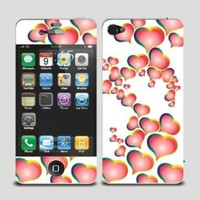 New Arrival Ultra-thin Body Decal Cute Screen Protector Skin Sticker for Apple iPhone 4 / 4S