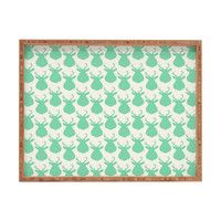 Allyson Johnson Minty Deer Rectangular Tray