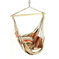 Beige Mix Cushioned Hanging Hammock Chair