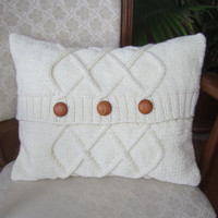 READY TO SHIP  Triple Diamond Cable hand knit by LadyshipDesigns