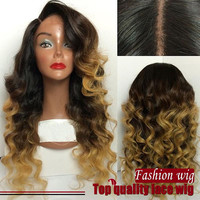 Two Tone Color Body Wave Synthetic Lace Front Wig
