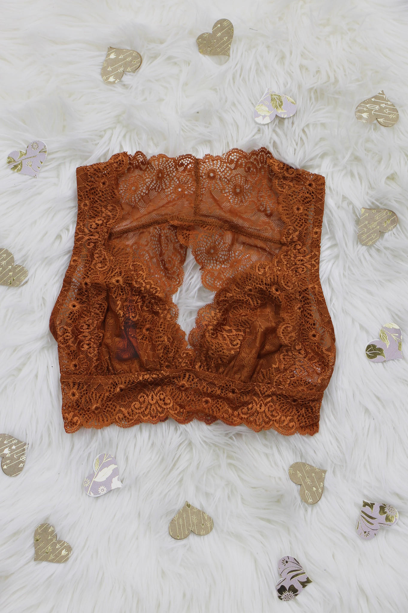 Image of French Connection Bralette - Rust