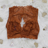 French Connection Bralette - Rust