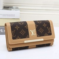 LV Louis Vuitton Classic Women's High Quality Wallet Apricot