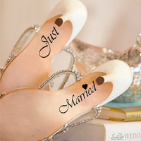 Wedding shoe decal