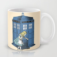 Alice: through the tardis box Mug by Budi Satria Kwan