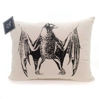 Halloween MACABRE BAT PILLOW Fabric Cover Cotton 84272016