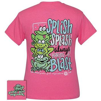 Girlie Girl Originals Preppy Splish Splash Frogs T-Shirt