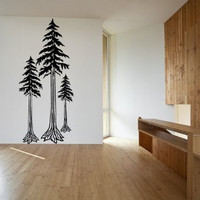 Redwood Tree Forest Vinyl Wall Decal Sticker Graphic