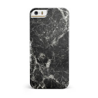 Black Scratched Marble iPhone 5/5S/SE INK-Fuzed Case