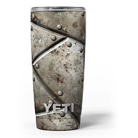 Bolted Steal Plates V2 - Skin Decal Vinyl Wrap Kit compatible with the Yeti Rambler Cooler Tumbler Cups