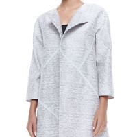 Women's Anissa 3/4-Sleeve Topper Jacket - Lafayette 148 New York - White multi (X-LARGE16)