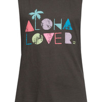 Billabong Aloha Lover Girls Tank Black  In Sizes