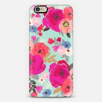 Sweet Pea Floral Aqua Multi Color iPhone 6 case by Crystal Walen | Casetify