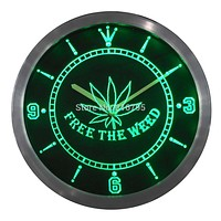 Free The Weed LED Wall Clock - CannaClocks