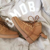 NIKE Air Force 1 Mid hot sale couple high top casual sneakers
