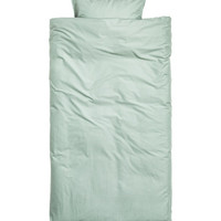 Washed Cotton Duvet Cover Set - from H&M