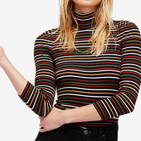 Free People I'm Cute Ribbed Turtleneck Sweater | macys.com