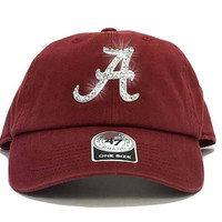 Alabama Crimson Tide '47 Brand Adjustable Cap + Swarovski Crystals