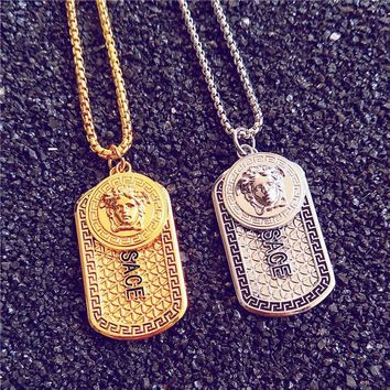 Stylish Gift Shiny Jewelry New Arrival Medusa Strong Character Hip-hop Necklace With Gift Box [9565017159]