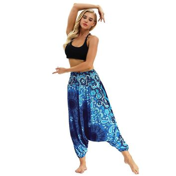 2018 Top Fashion Women Skinny  Harem Pants Women Casual Summer Loose Trousers Baggy Boho Aladdin Harem Pants