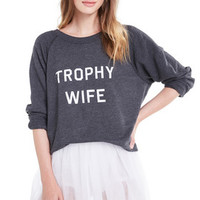 Trophy Wife Sommers Sweater - Crew Neck, Banded Hems - Wildfox