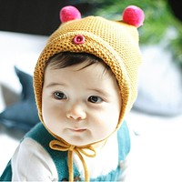 Winter Warm Baby Hat for Girl Boy Children Toddler Kids Wool Knitted Caps Infant Cute Beanies