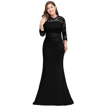 New Evening Party Dress Plus Size  in Colors