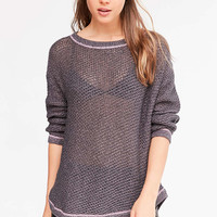 Kimchi Blue Lea Lace-Up Pullover Sweater - Urban Outfitters