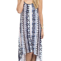 Just Flow With It Printed Knit Slip Dress