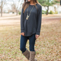 Lazy Daze Top, Gray