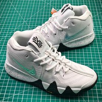 Nike Kyrie 4 NCAA March Madness White/Multi-Color 943806-104 Sport Basketball Shoes - Best Online Sale