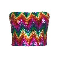 RAINBOW SEQUIN BANDEAU
