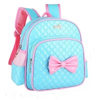 Drop Ship Baby Kids Girls Bowknot Print Backpack School Bags Fashion Shoulder Bag Juy24