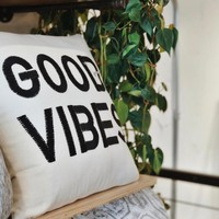 Magical Thinking Good Vibes Pillow | Urban Outfitters