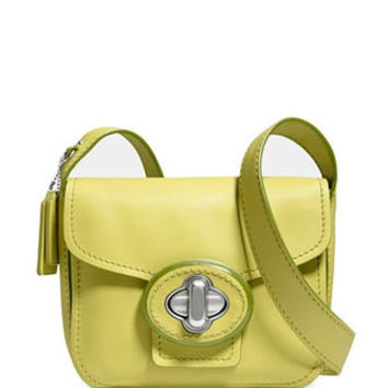 Coach Flap Front Drifter Shoulder Bag In Calf Leather