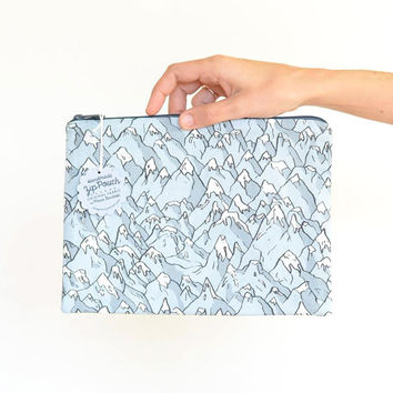 Forever Mountains Large Flat Pouch